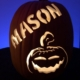 Hand carved custom pumpkin with happy face