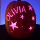 Hand carved custom pumpkin with stars
