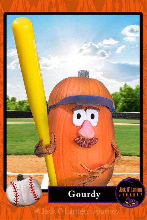 Pumpkin Baseball Card