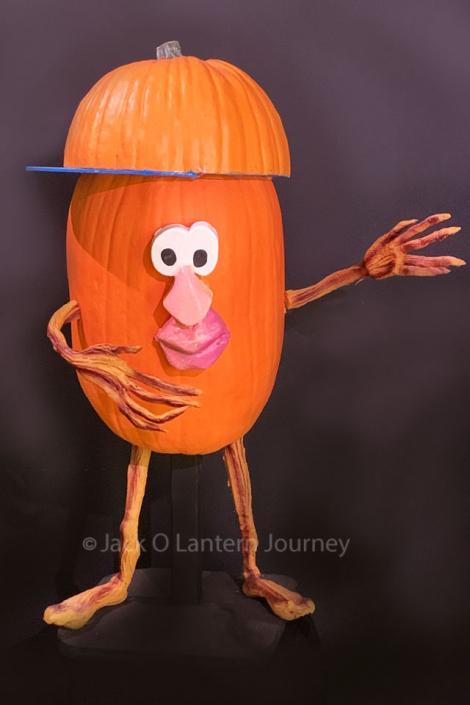 Pumpkin Baseball Player Calling Plays